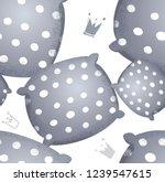 seamless cartoon funny pattern... | Shutterstock .eps vector #1239547615