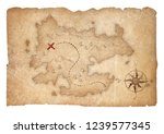 treasure map of pirates... | Shutterstock . vector #1239577345
