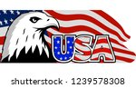 bald eagle symbol of north... | Shutterstock . vector #1239578308