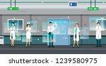 doctors are using digital... | Shutterstock .eps vector #1239580975