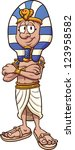 tecknad,tecken,egyptiska,övertoning,illustration,isolerade,kung,en,farao,stående,så