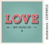 happy valentines day card  i... | Shutterstock .eps vector #123958912