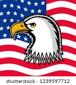 bald eagle symbol of north... | Shutterstock . vector #1239597712
