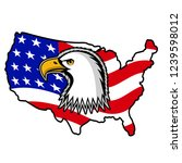 bald eagle symbol of north... | Shutterstock . vector #1239598012