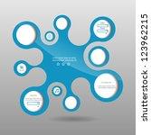 abstract blue modern vector... | Shutterstock .eps vector #123962215