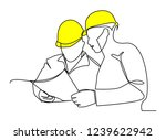 continuous line drawing... | Shutterstock .eps vector #1239622942