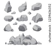 rock stones. graphite stone ... | Shutterstock .eps vector #1239636352