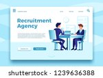 recruitment agency. business... | Shutterstock .eps vector #1239636388