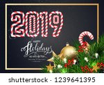 holidays greeting card for... | Shutterstock .eps vector #1239641395