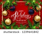 holidays greeting card for... | Shutterstock .eps vector #1239641842
