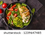 grilled chicken breast and... | Shutterstock . vector #1239647485