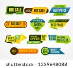 sale stickers. price tag label. ... | Shutterstock . vector #1239648088