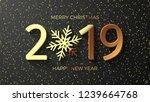 christmas glittering background ... | Shutterstock .eps vector #1239664768
