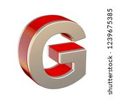 alphabet letter g with red... | Shutterstock . vector #1239675385