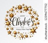 merry christmas calligraphic... | Shutterstock .eps vector #1239677752