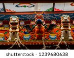 Wooden Garuda And Snow Lion In...