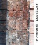 natural brown wood. door  wall ... | Shutterstock . vector #1239681265