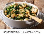 cooked diet chickpeas with... | Shutterstock . vector #1239687742