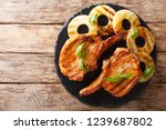 main course  grilled pork chop... | Shutterstock . vector #1239687802