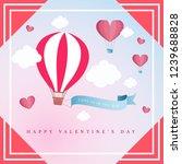 happy valentines day. vector...   Shutterstock .eps vector #1239688828