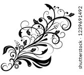 floral decorative ornament.... | Shutterstock . vector #1239691492