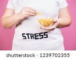 stress  eating problems ... | Shutterstock . vector #1239702355