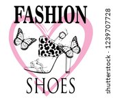 fashion shoes butterfly fashion ... | Shutterstock .eps vector #1239707728