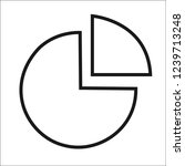 pie chart icon in trendy flat...
