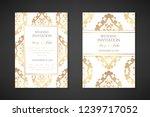 wedding invitation templates.... | Shutterstock .eps vector #1239717052