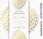 wedding invitation templates.... | Shutterstock .eps vector #1239717058