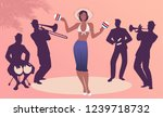 beautiful dancer playing... | Shutterstock .eps vector #1239718732