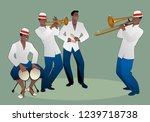 latin band. four latin... | Shutterstock .eps vector #1239718738