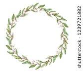 simple decorative wreath of...   Shutterstock . vector #1239721882