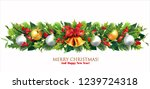 christmas border with holly ... | Shutterstock .eps vector #1239724318