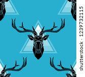 polygonal vector deer head.... | Shutterstock .eps vector #1239732115