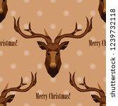polygonal vector deer head.... | Shutterstock .eps vector #1239732118