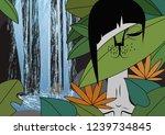 catwoman in bali   Shutterstock . vector #1239734845