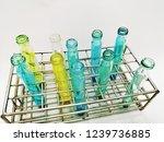 laboratory equipment chemists... | Shutterstock . vector #1239736885