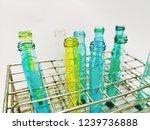 laboratory equipment chemists... | Shutterstock . vector #1239736888