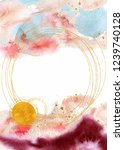 watercolor abstract background  ... | Shutterstock .eps vector #1239740128
