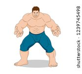 strong man without a shirt   Shutterstock .eps vector #1239745498