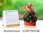 miniature christmas tree...   Shutterstock . vector #1239750238