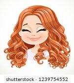 beautiful serene joy cartoon... | Shutterstock .eps vector #1239754552