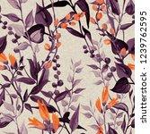 floral seamless pattern.... | Shutterstock . vector #1239762595