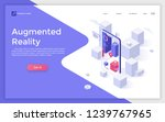 landing page with blocks seen... | Shutterstock .eps vector #1239767965