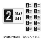 number of days left sign for... | Shutterstock .eps vector #1239774118