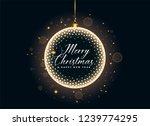 luxury christmas balls and... | Shutterstock .eps vector #1239774295