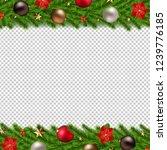 christmas garland isolated... | Shutterstock .eps vector #1239776185