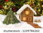 beautiful edible gingerbread... | Shutterstock . vector #1239786262