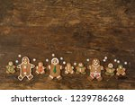 colorful gingerbread cookies on ... | Shutterstock . vector #1239786268